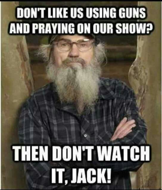 duck dynasty image of famous dialogue by uncle si