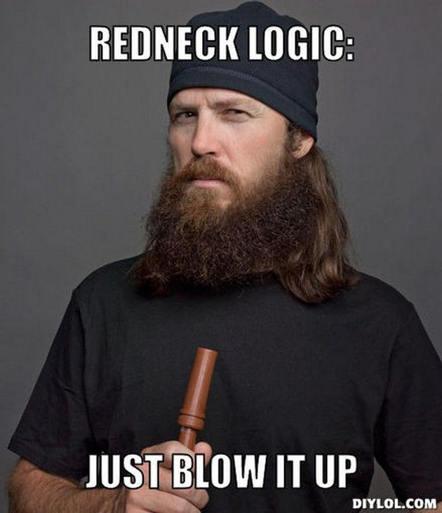 duck dynasty image of redneck logic famous