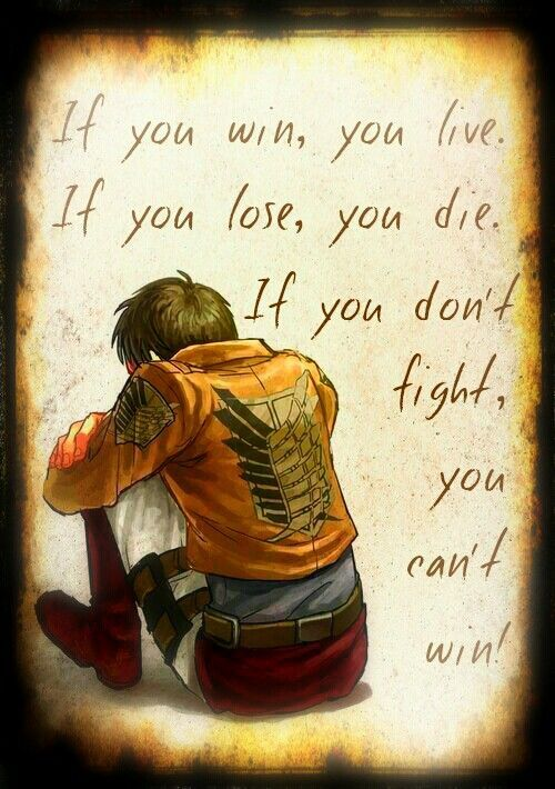attack on titan famous lines