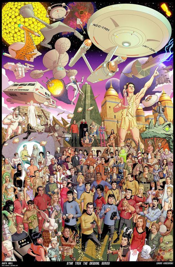 extra 1 star trek poster
