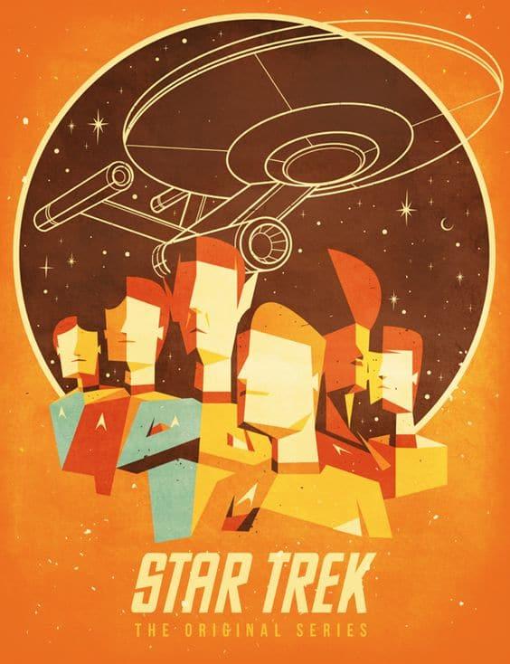 extra 9 star trek poster