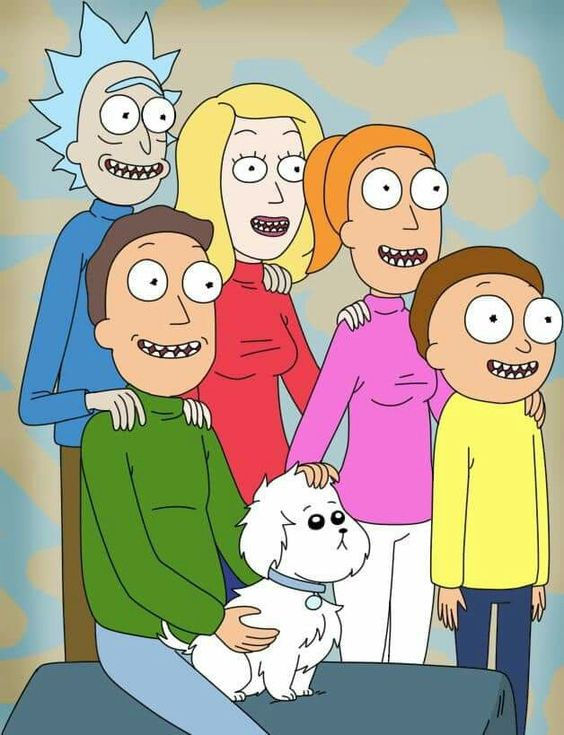 rick and morty family portrait