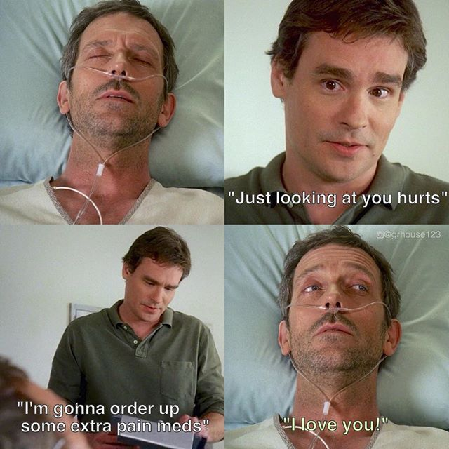 House M.D poster of funny dialogue by Wilson and House