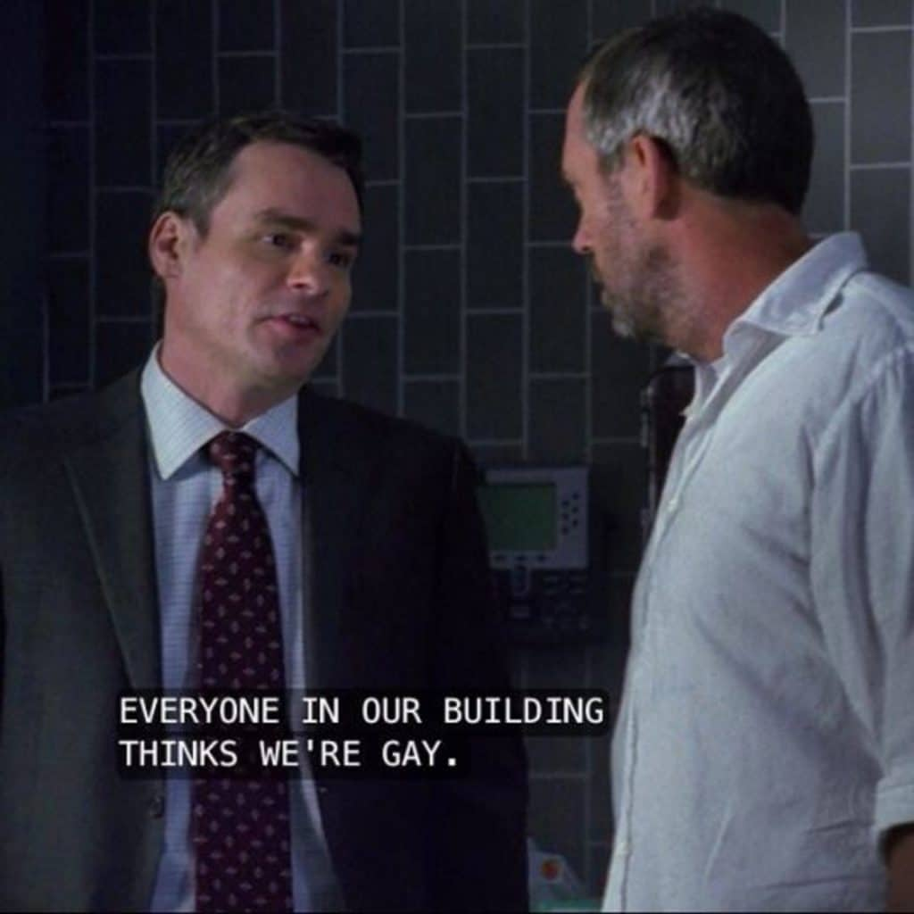House M.D poster of House and Wilson Gay