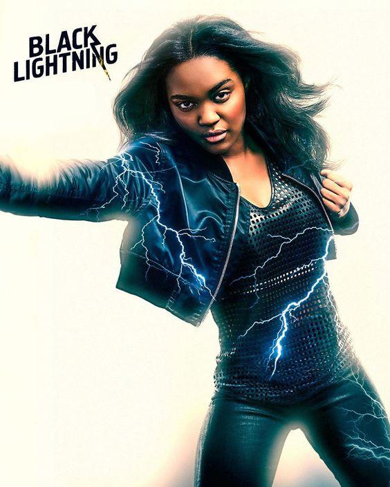 black lightning poster of lightning