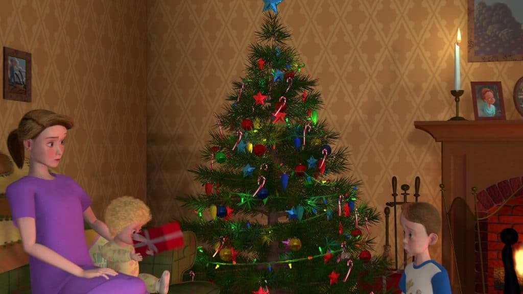 toy story image of mrs. davis with andy and molly