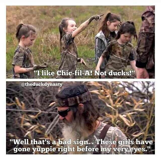 duck dynasty image of famous dialogue by phil robertson saying yuppie