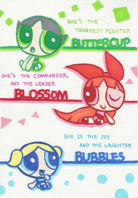 powerpuff girls poster of all three girls