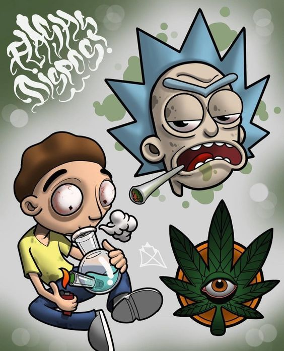 high rick and morty poster