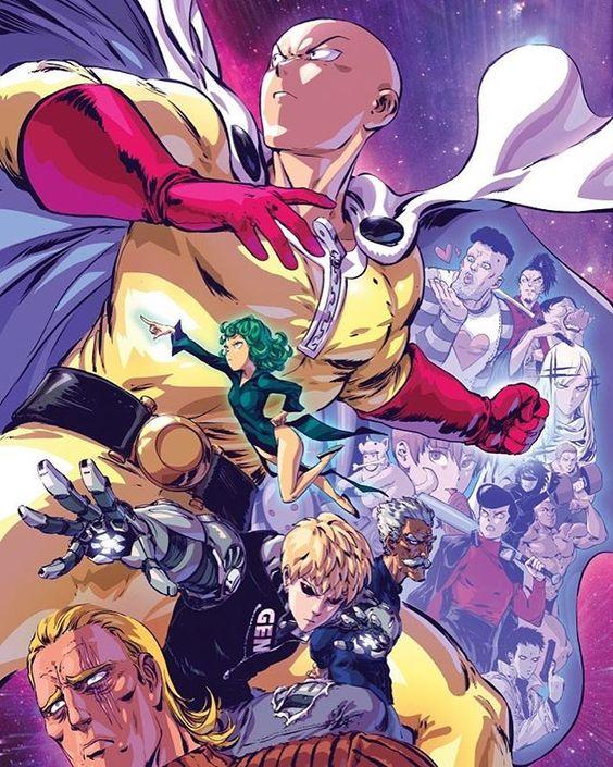 saitama and s-class super heroes
