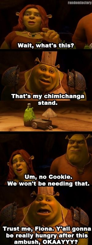 shrek forever after poster of famous dialogue by fiona