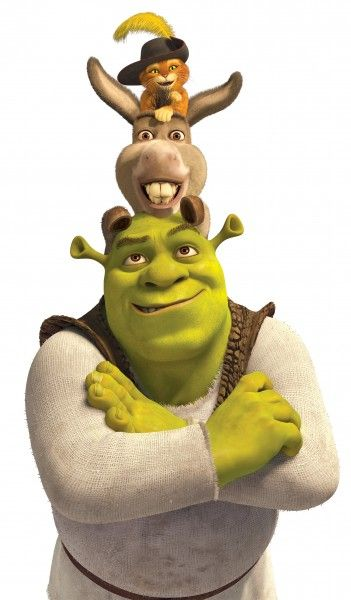 shrek the third poster of shrek donkey and puss in boots