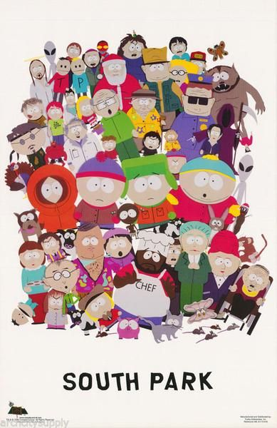 south park official poster