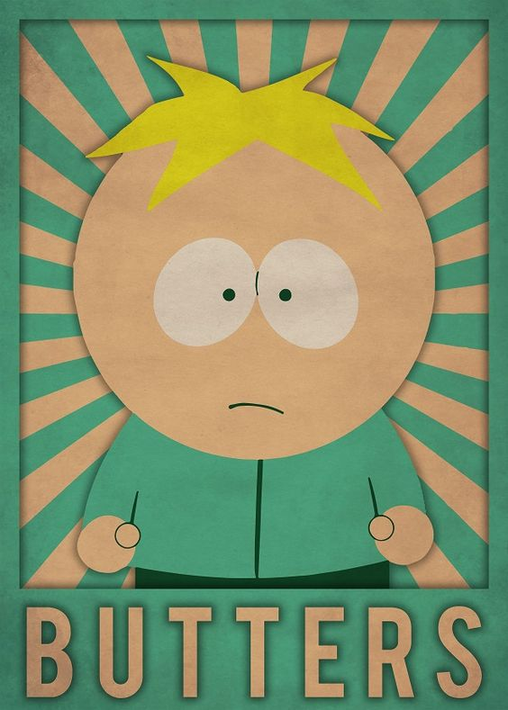 south park poster of butters scotch