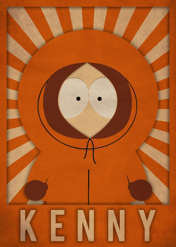 south park poster of kenny McCormick Mcc