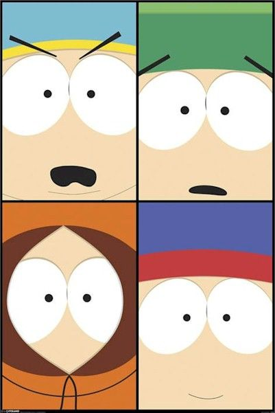 south park poster of all boys