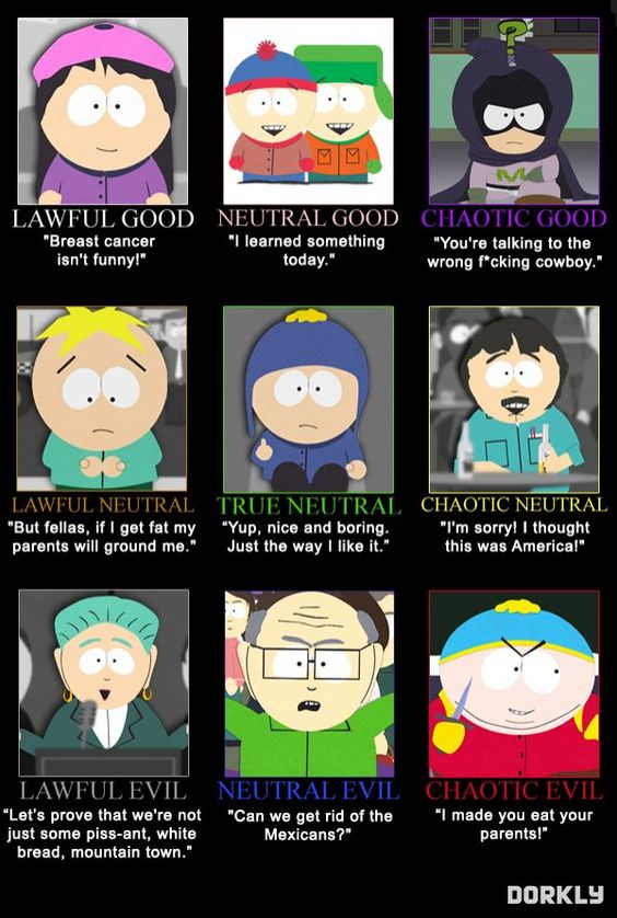 south park poster of all characters