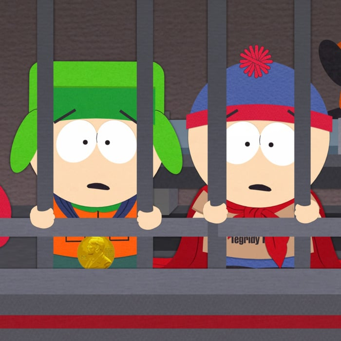 south park poster of stan and kyle