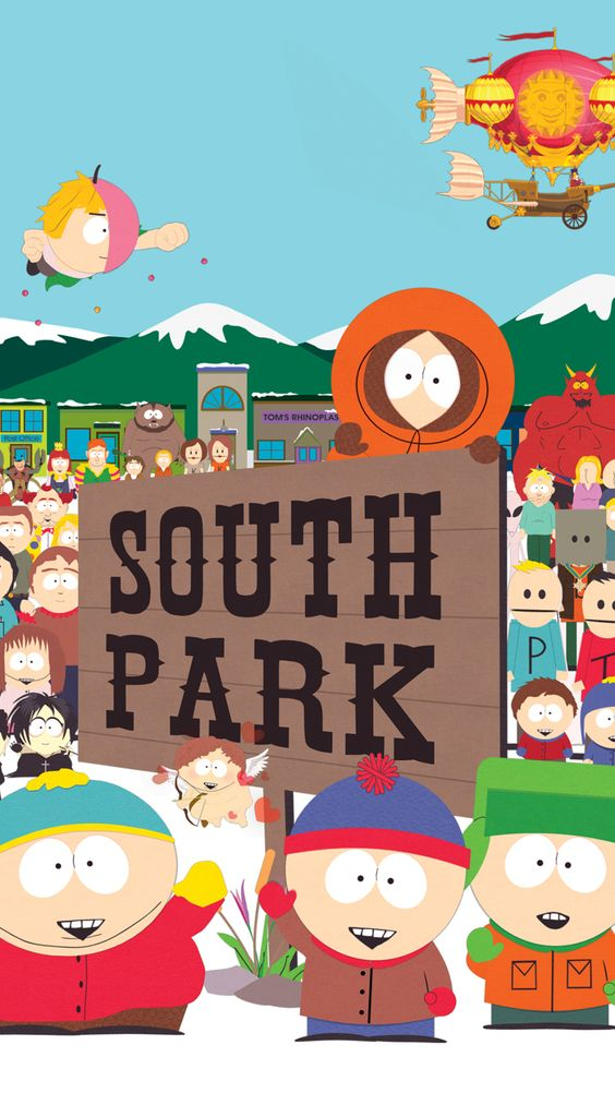 south park animated series poster
