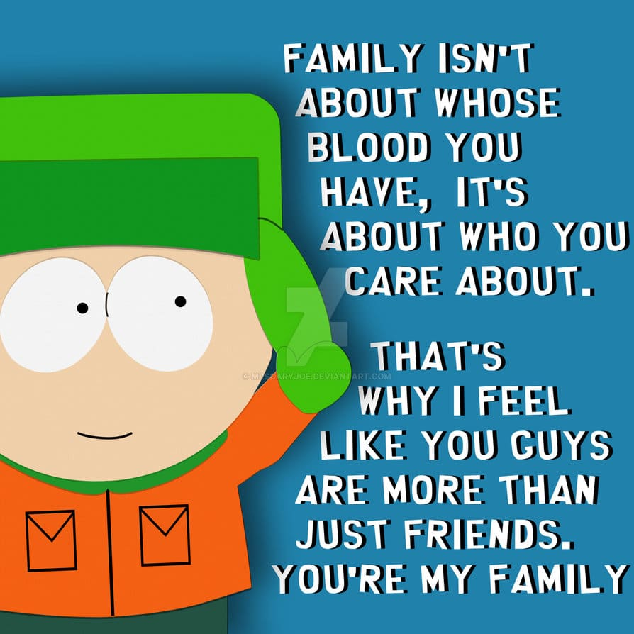 south park poster of quote by kelly