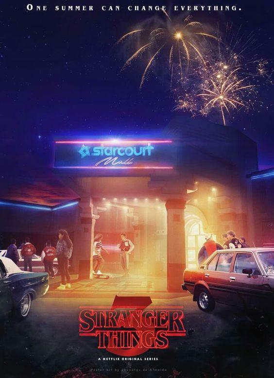 stranger things season 3 poster of starcourt mall