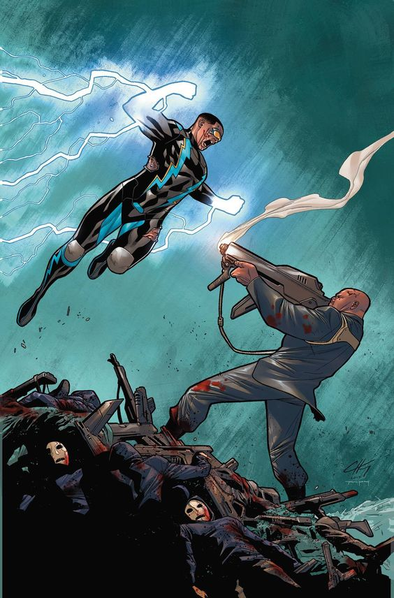 black lightning poster of static shock