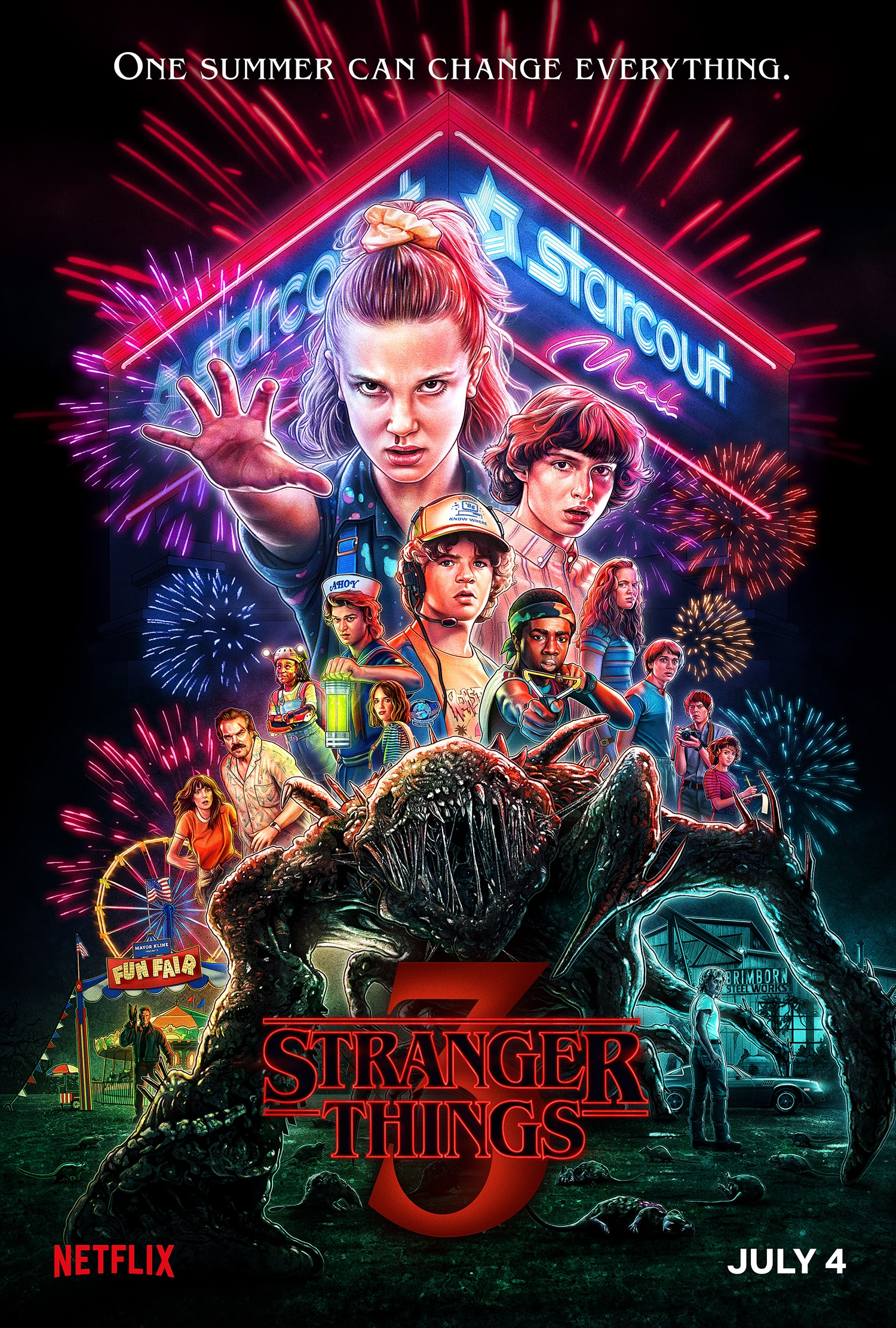 stranger things season 3 official poster