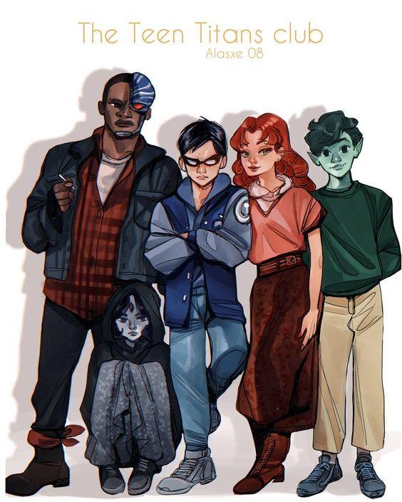 the teen titans DC comics