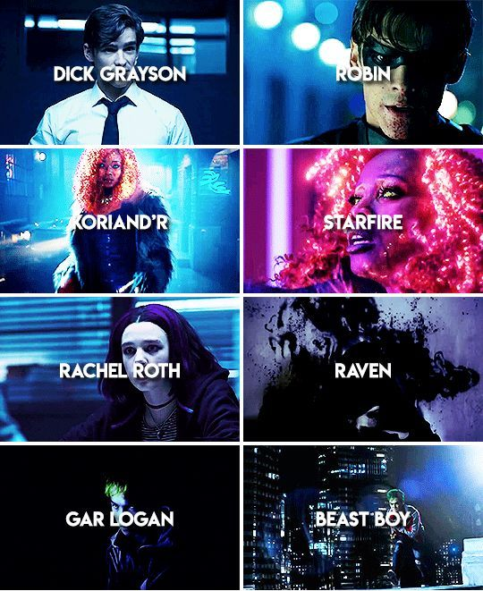 titans poster of all characters