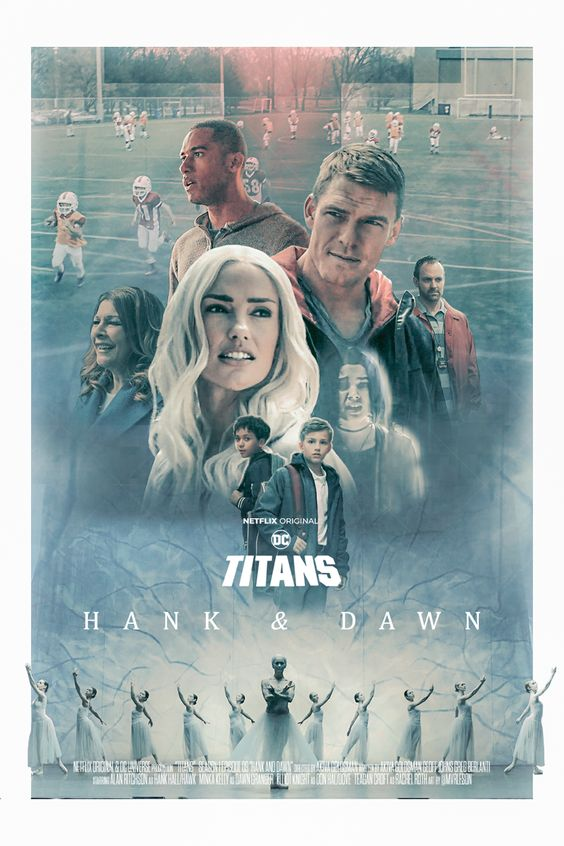 titans poster of episode hank and dawn