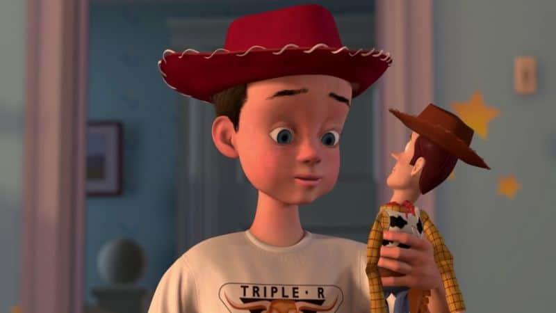 toy story image of andy with woody