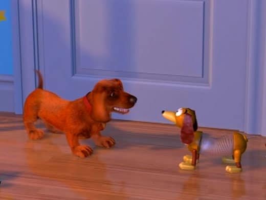 toy story image of buster and slinky
