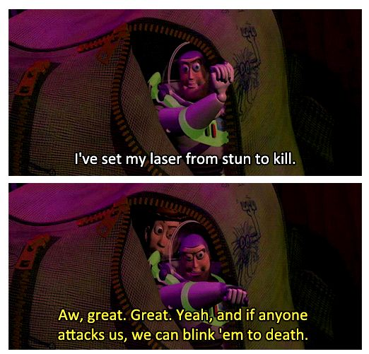 toy story image of famous quote by Woody and Buzz