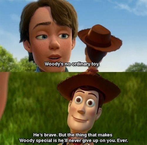 toy story 3 image of famous dialogue by andy to woody