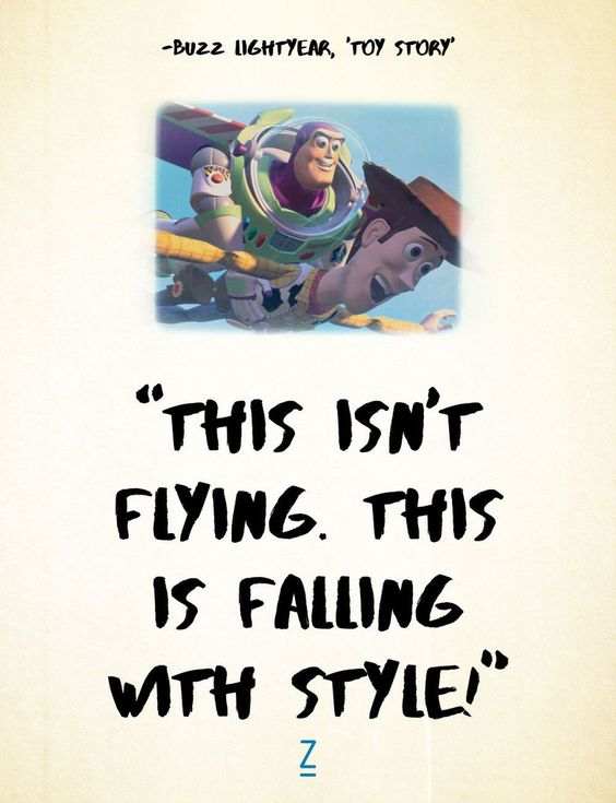 toy story 3 image of famous dialogue by buzz