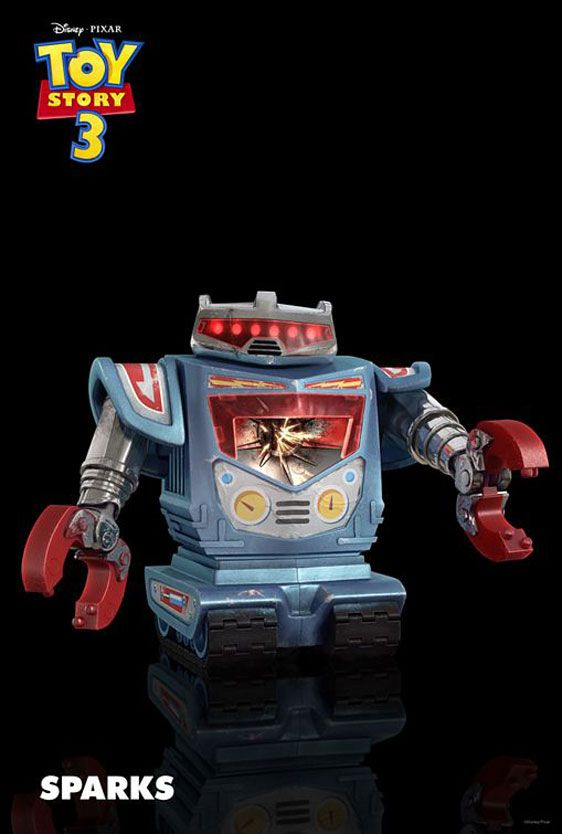 toy story 3 image of sparks robot