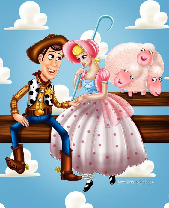toy story image of woody and bo peep