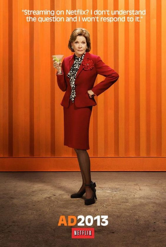 arrested development poster of lucille bluth