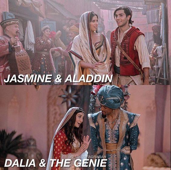 aladdin image of jasmine and aladdin and dalia and genie