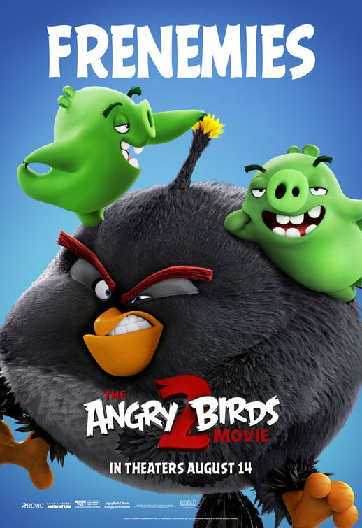 angry birds 2 poster bomb and pigs