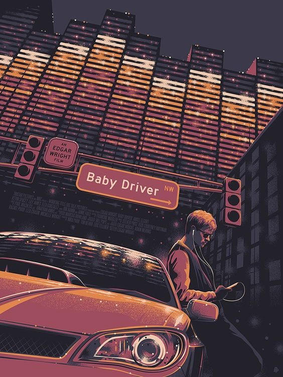 baby driver image of baby and car