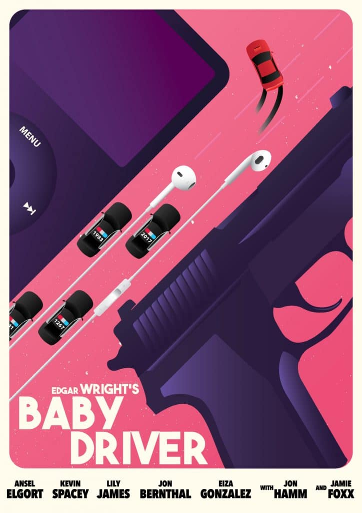 baby driver fanart poster