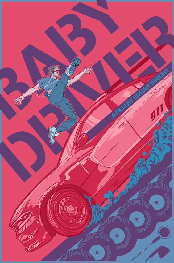 baby driver fanart poster of baby