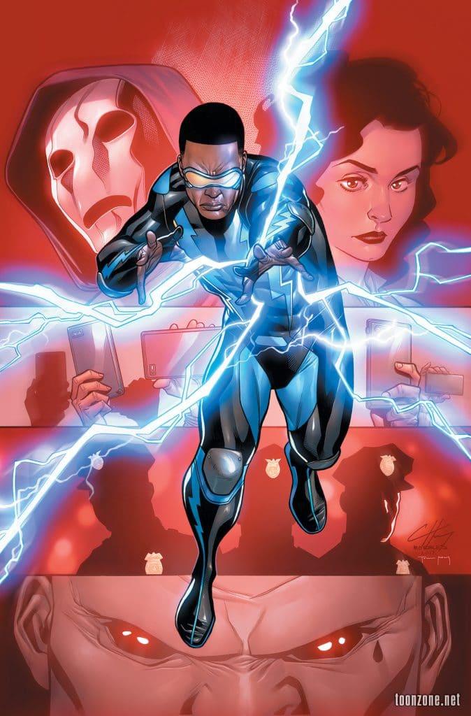 black lightning poster of comics