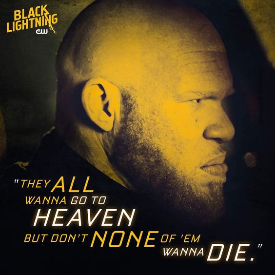 black lightning poster of famous quote by tobias
