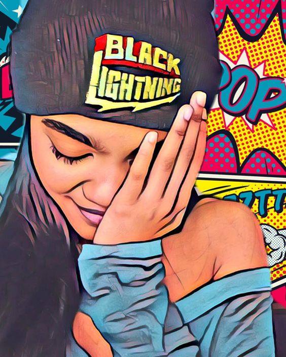 black lightning fanart poster