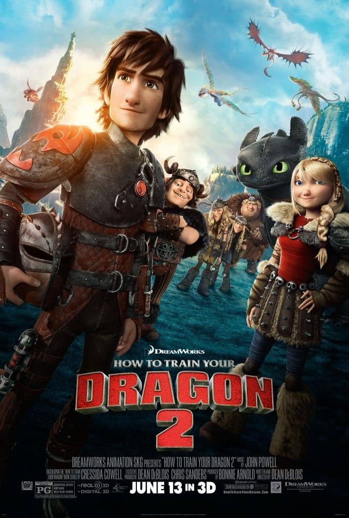 how to train your dragon 2 official poster