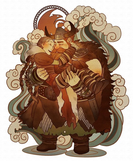 how to train your dragon image of valka and stoick