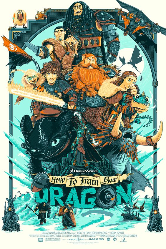 how to train your dragon fanart poster