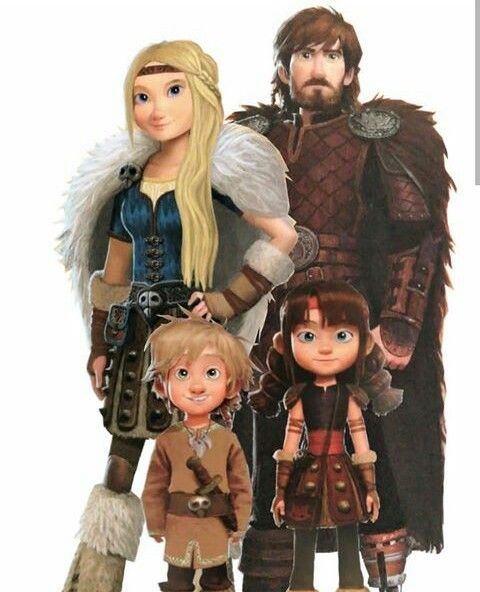how to train your dragon image of hiccup family